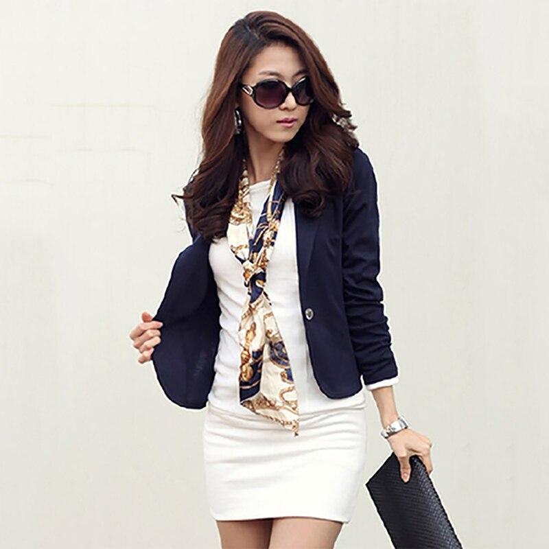 Blouse Suit Staff-Jacket Slim Korean-Style Casual Women New Short