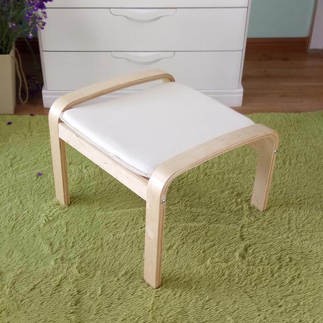 Cómoda de madera taburete otomana footstool con Cojines Muebles de ...