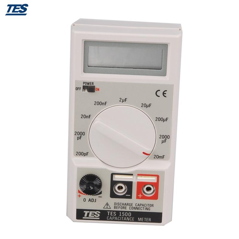 TES1500 Capacitance Tester Meter up to 20mF 20000uF