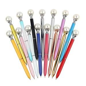 Image 1 - 15 יח\חבילה צבעוני פרל מתכת כדורי עט 15 צבעים Kawaii המלכה של קב BallPen עבור ספר boligrafos יוניסקס עטים