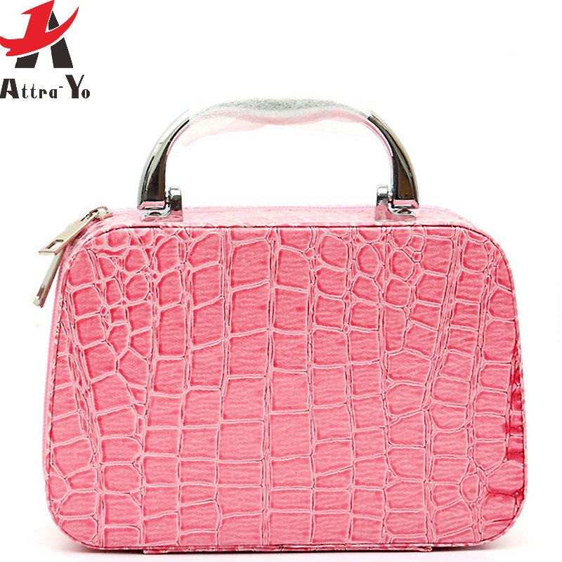 ATTRA-TO women cosmetic case fashion Cosmetic Bags Box Makeup Bag Beauty  Case Travel bags Jewelry Display Case LM3601ay e0ef73941dd0e