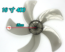 16 inches plastic fan blade 400mm 5 blades knife shape