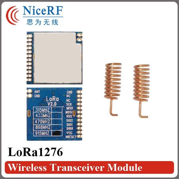 2 teile/los LoRa1276 100 mW SX1276 Chip Spi-schnittstelle Empfindlichkeit-139 dBm 915 MHz 4 km Fern RF sender Und Empfänger