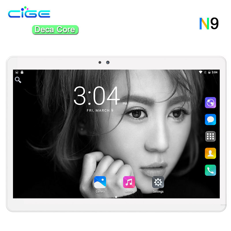 CIGE 10.1 Inch Tablet PC MT6797 Deca Core 4GB RAM 64GB ROM Dual SIM 8.0MP Android 7.0 GPS IPS Screen Tablet PC 10 Phone Call new original kyocera 303m694030 303lj94130 separation pad assy for fs 1124 1128 1130 1135 m2030 m2530 m2035 m2535 c2126 km 2820