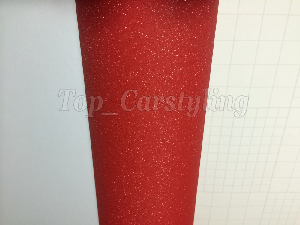 Glitter vinyl red sandy frosty car wrap Film (3)