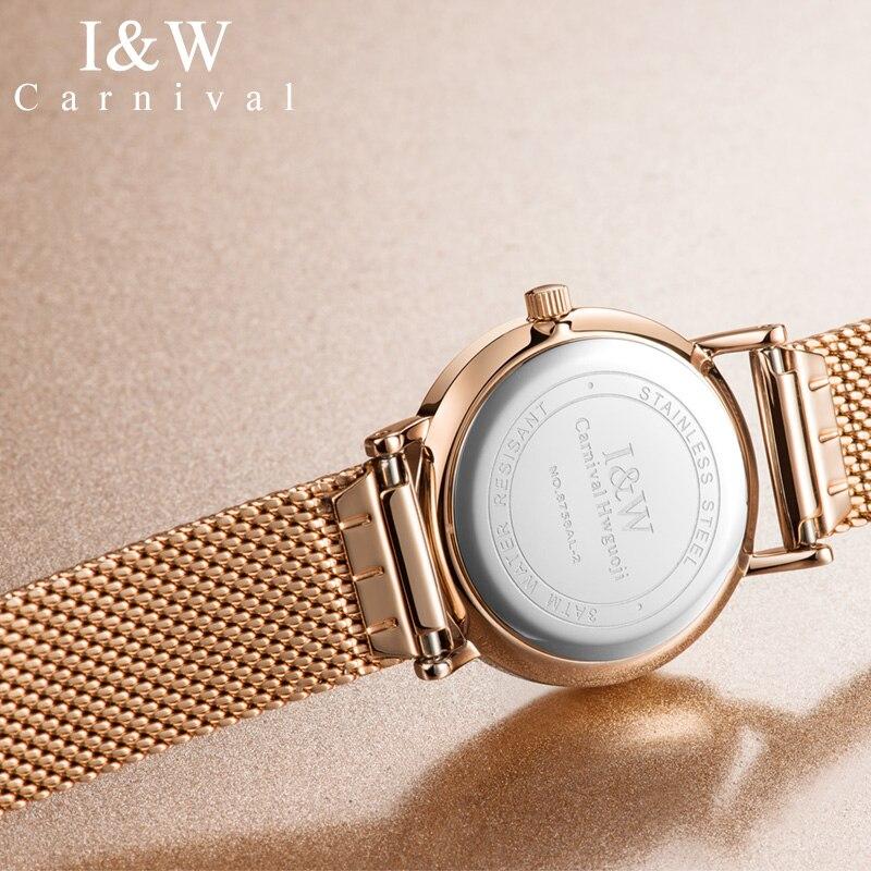 JSDUN автоматические механические часы из нержавеющей стали, лаконичные минималистичные водонепроницаемые женские часы, женские роскошные ч... - 4