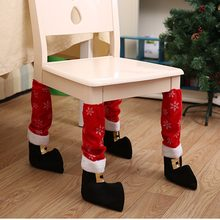 Christmas Chair Protect Floor Leg Event Xmas Party Dinner Restaurant Hotel Chairs Legs Corving Set Household Decorative Supplies(China)