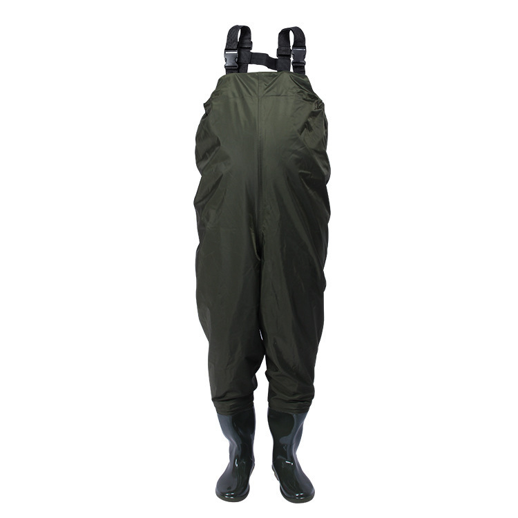 Outdoor Fleece warm Waterproof wading overalls with boots Male Strap Fishing Camping Farming Jumpsuits Breathable Waders A70503 thicker waterproof fishing boots pants breathable chest waders wading farming overalls cleaning siamese bust clothes