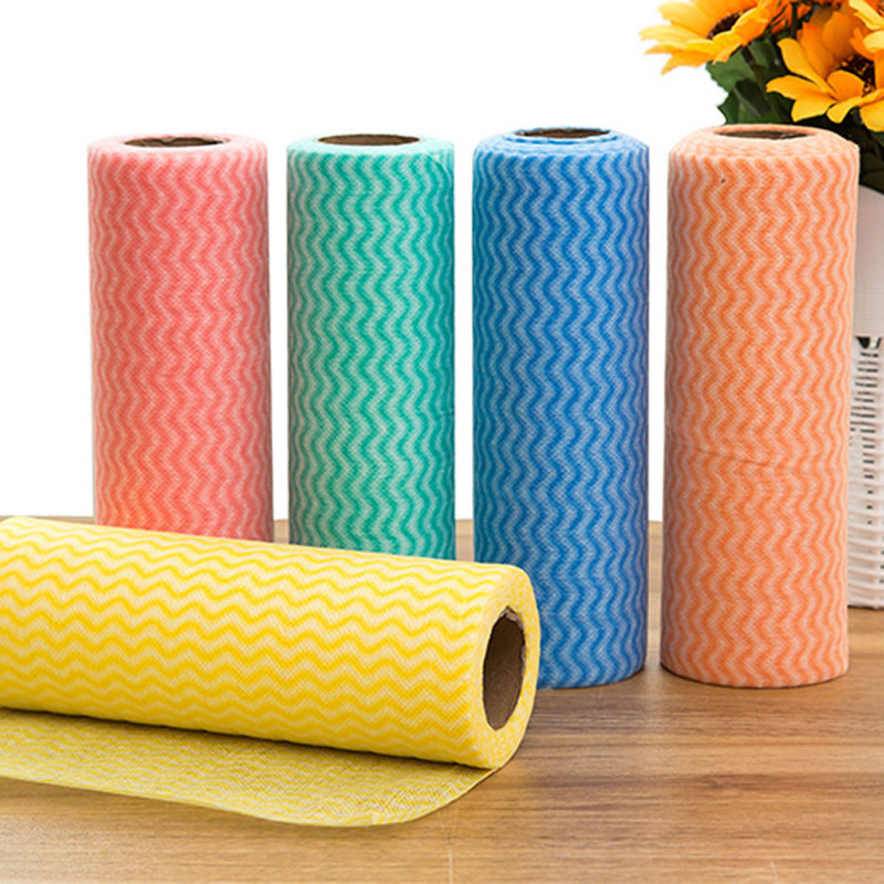 1 Roll Eco-Friendly Cleaning wash cloth Non Woven Duster Cloth Dish Cloth Break Point No Oil Rag Furniture items kitchen towels(China)