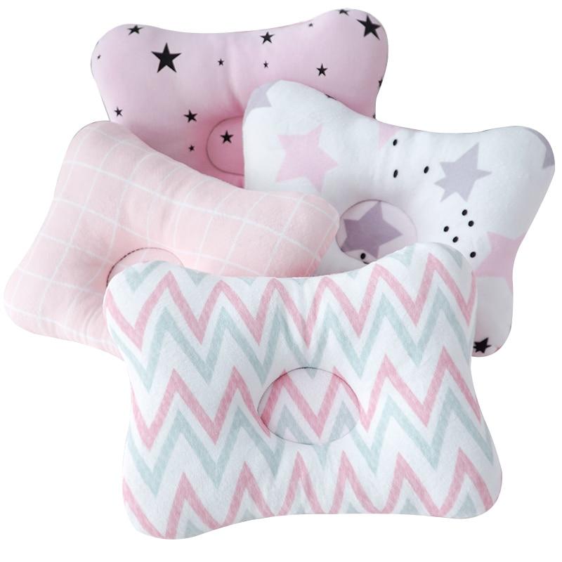 Muslinlife Soft Cotton Shaping Kids Pillow Travel Neck Pillow Toddler Baby Kids Sleep Pillow Anti Roll Dropship