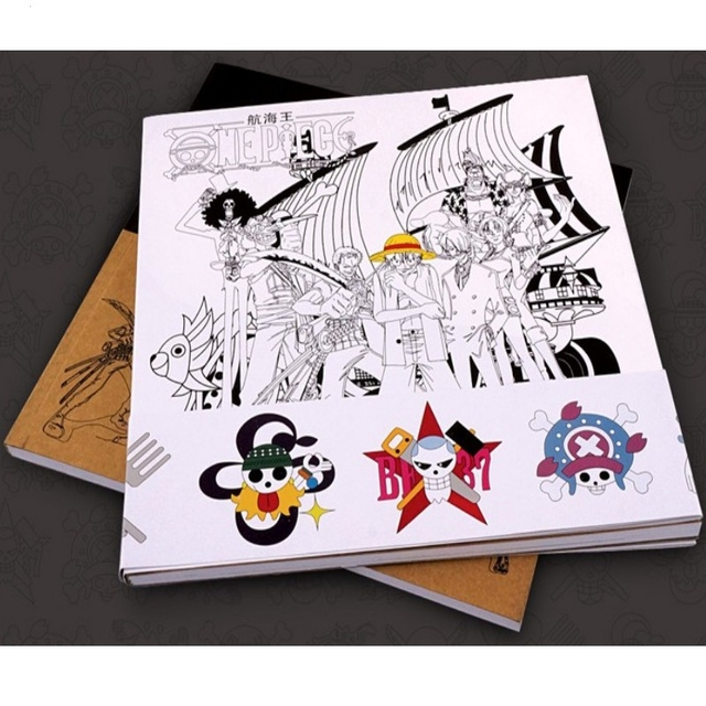 HEIßER! One Piece anime Colouring Buch Für Kinder Erwachsene anti ...