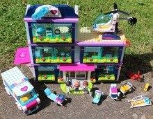 Amor Meninas caber legoings amigos figuras do Hospital da cidade HeartLake kit modelo de Blocos de Construção Tijolos diy Brinquedos 41318 presente do miúdo meninas