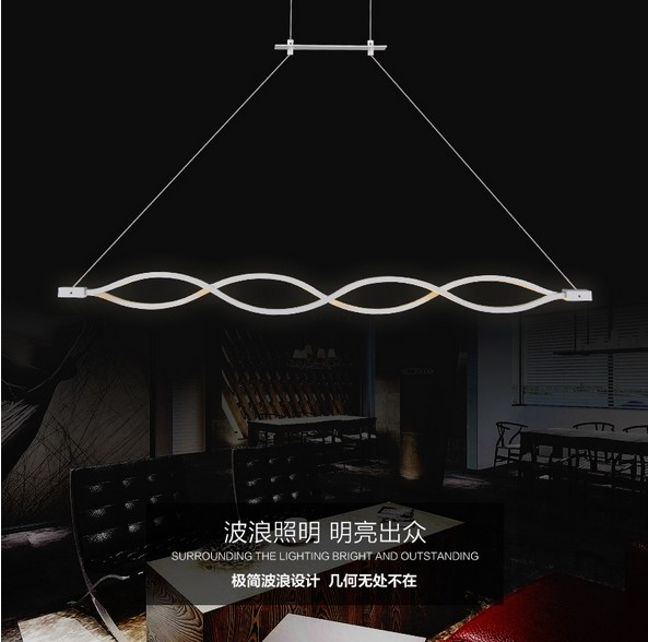 Led Pendant Lighting Fixtures. Creative Wave Design Acrylic Droplight Modern  Pendant Light Fixtures For Living