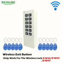 RAYKUBE Wireless Password Keypad & RFID Reader Use For Our Wireless Door Lock With 10pcs RFID Keyfobs R K10|keypad wireless|keypads for doorskeypad rfid -