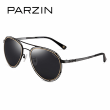 PARZIN New Style 2017 Hollow Frame Men Sunglasses Frog Metal Oval Driving Polarized  Eyewear So Real Brand Spectacles 8111