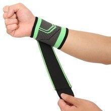 Защита запястья поддерживающий Бандаж Компрессионный ремешок Спортивная Защитная ручная перчатка эластичный ремешок рукав один размер, Регулируемый черный