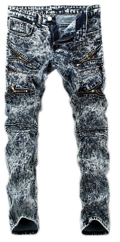 2016 Hot Sale Mens Casual Skinny Pencil Leg Slim Biker Jeans Fashion Denim Pants Trousers
