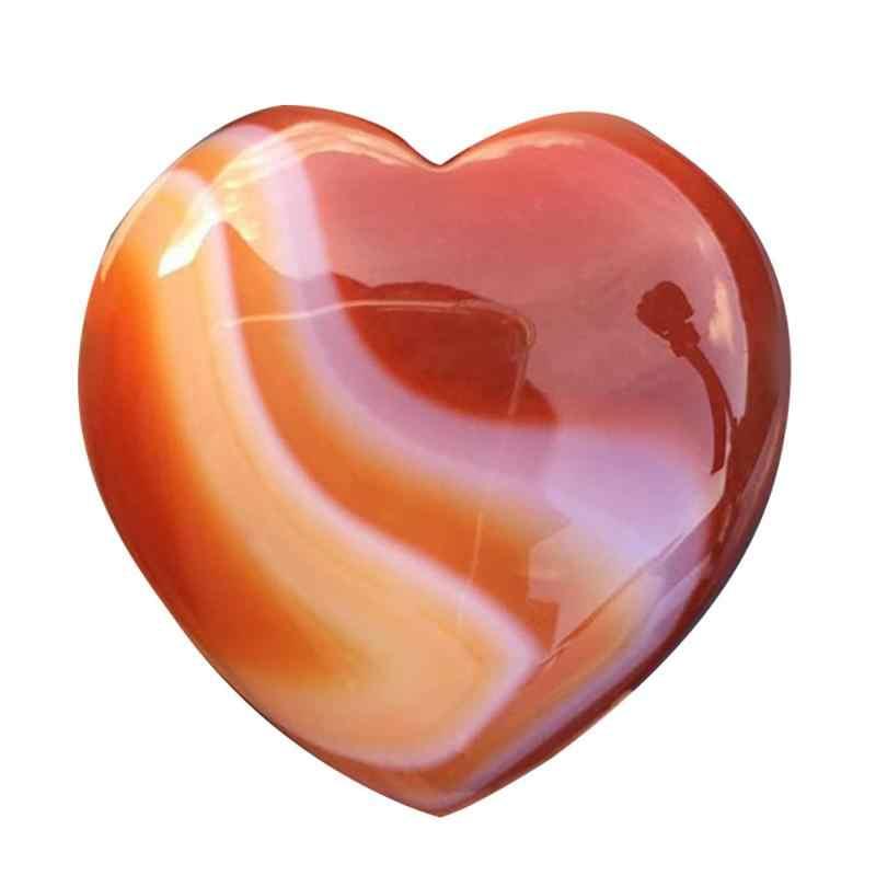 2019 ขายใหม่ร้อน Assorted รูปหัวใจควอตซ์คริสตัล Chakra หินธรรมชาติแกะสลัก Reiki