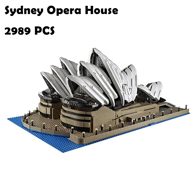 2989Pcs 17003 Sydney Opera House Kits figures Model Building Blocks toys Compatible with lego 10222 Educational toys hobbies lepin 17003 2989pcs sydney opera house model building kits blocks bricks toys compatible legoed 10222