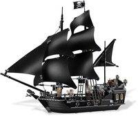 804pcs Bricks Lepine 16006 Compatible Legoe 4184 Pirate Ship Of Caribbean Captain Jack Modle Building Blocks