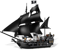804pcs Bricks Lepine 16006 Compatible Legoe 4184 Pirate Ship Of Caribbean Captain Jack Modle Building Blocks