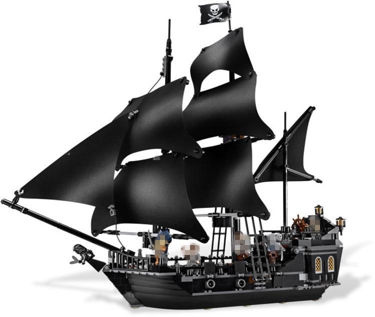 804pcs Bricks Lepine 16006 Compatible Legoe 4184 Pirate Ship of Caribbean Captain Jack Modle building blocks toy for children lepin 16006 804pcs pirates of the