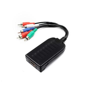 Ypbpr componente ao conversor hdmi hdtv vídeo conversor de áudio adaptador com cabo de áudio e vídeo