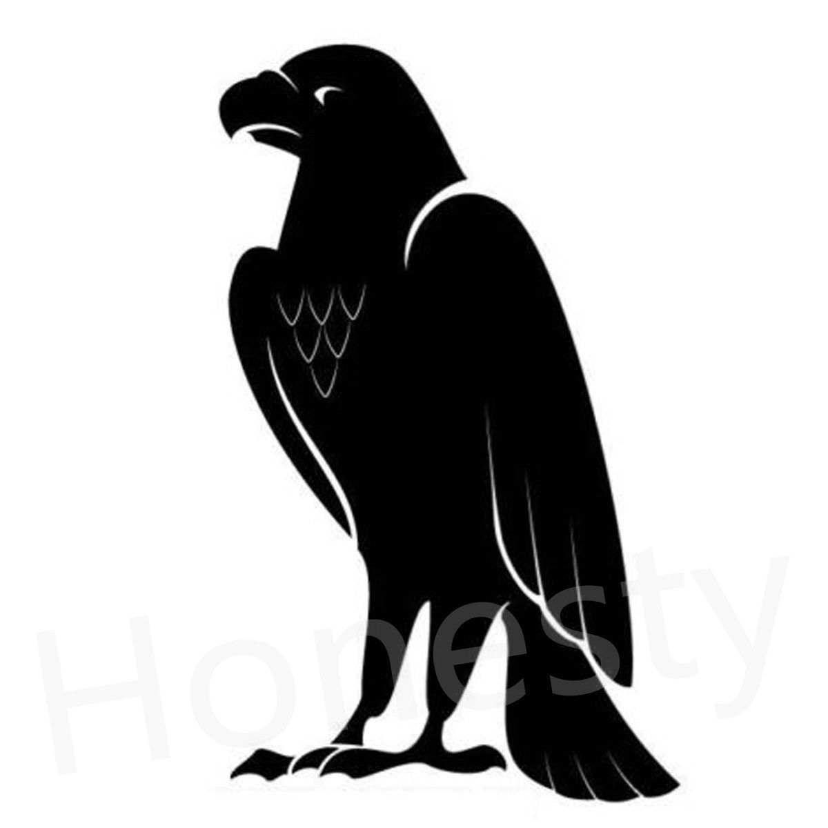 Eagle Standing Car Wall Home Glass Window Door Car Sticker Auto Laptop Truck Black Animal Vinyl Decal Sticker Decor Gift