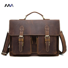 MVA Men Crazy Horse Genuine Leather Briefcase Handbags Leather Laptop Bag Shoulder Crossbody Bags for Man Messenger Bags