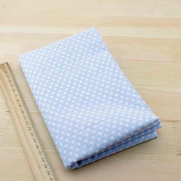 Booksew Vải Cotton Tissus Cắt Miếng Telas Tecido May Vải Trắng Chấm Bi Nhà Dệt Ánh Sáng Xanh Dương Miếng Dán Cường Lực Búp Bê Hàng Thủ Công