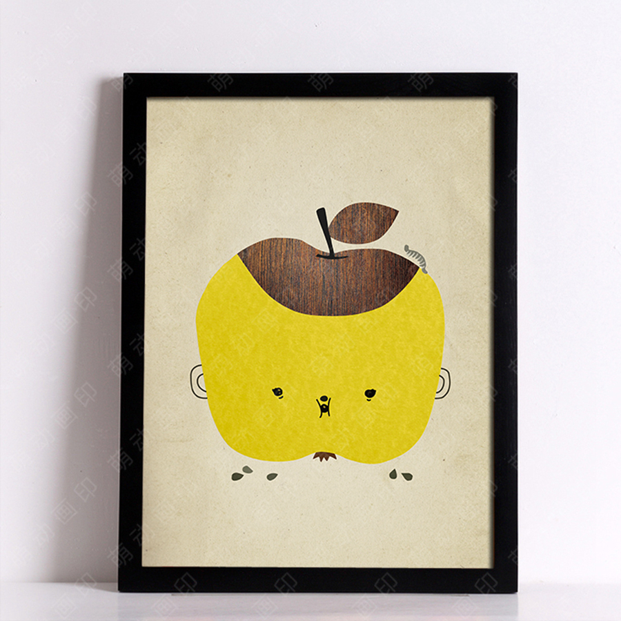 Fruit Wall Art Canvas Print , Retro nostalgia Wall Painting ...