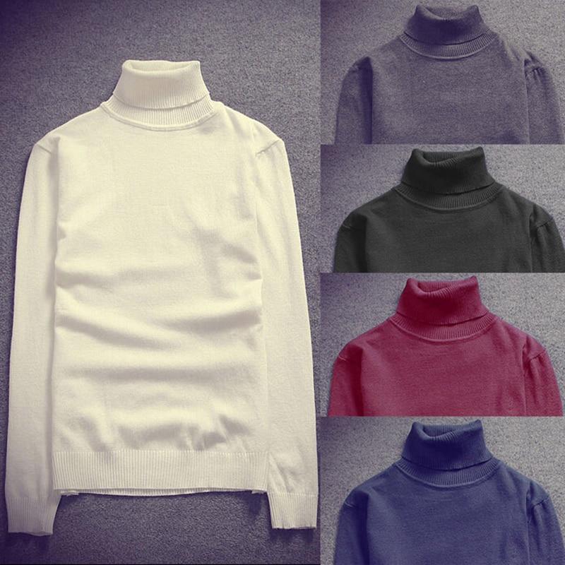 Navy Blue Red Korean Men Turtle Neck Sweater Knitted Pullover White Black Jumper Men Turtleneck Sweater Thin Stretch Slim Fit