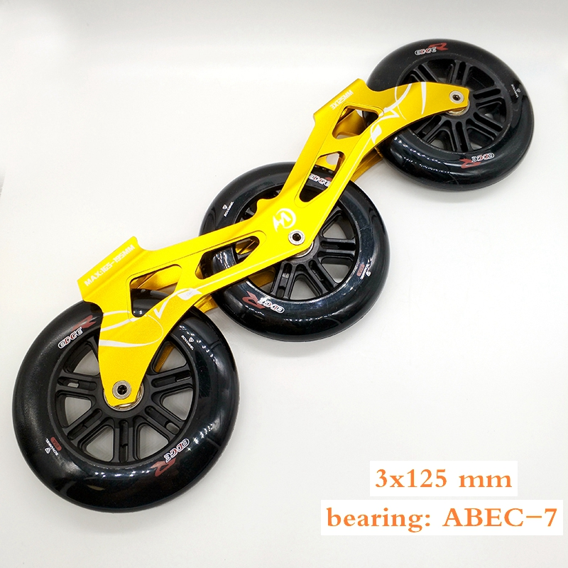 Free Shipping Speed Skates Frame 3x125 Mm 165-195 Frame +wheel