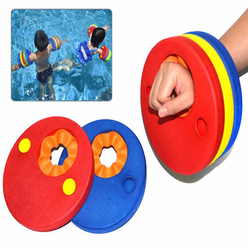 Kids Foam Pool Float Swimming Arm Bands Floating Sleeves Free Inflatable Board Swimming Exercises Circles Rings