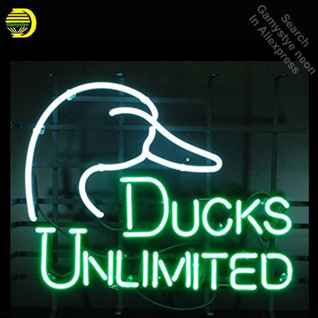 Ducks Unlimited Neon Sign Restaurant neon bulb Sign neon lights Sign Real glass Tube Handcraft Iconic Sign Display light up