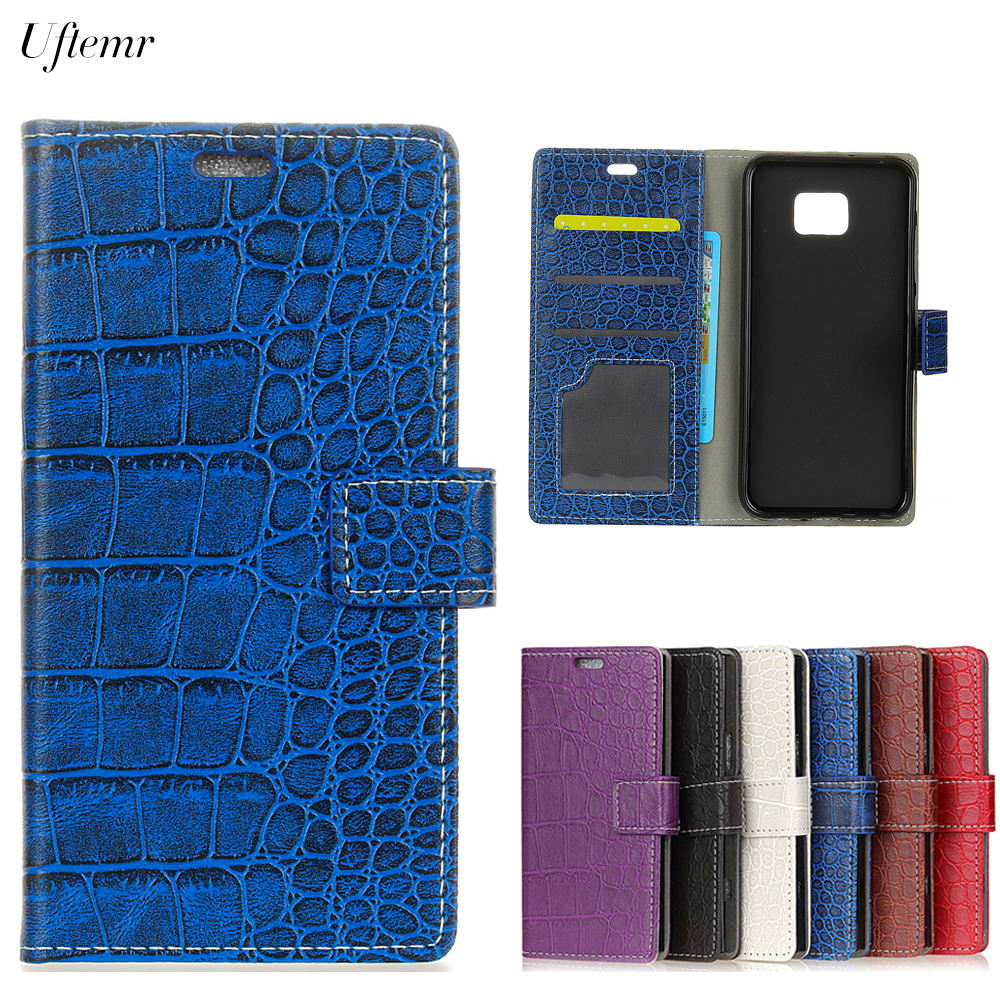 Uftemr Vintage Crocodile PU Leather Cover Silicone Case For ASUS Zenfone 4V V520KL Wallet Card Slot Phone Acessories