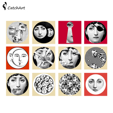 Creative European PVC tile sticker fornasetti design square Self-adhesive waterproof bathroom/kitchen wall stickers /wall