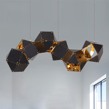 JAXLONG Nordic Iron Art Pendant Lamp Simple Modern Home Decor Lighting Light Fixture Living Room Creative Lights Kitchen