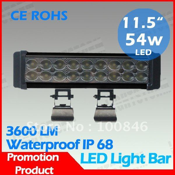 Free shipping!High quality , new arrival product  54W High Power LED light bar, High brightness LED bar,work light