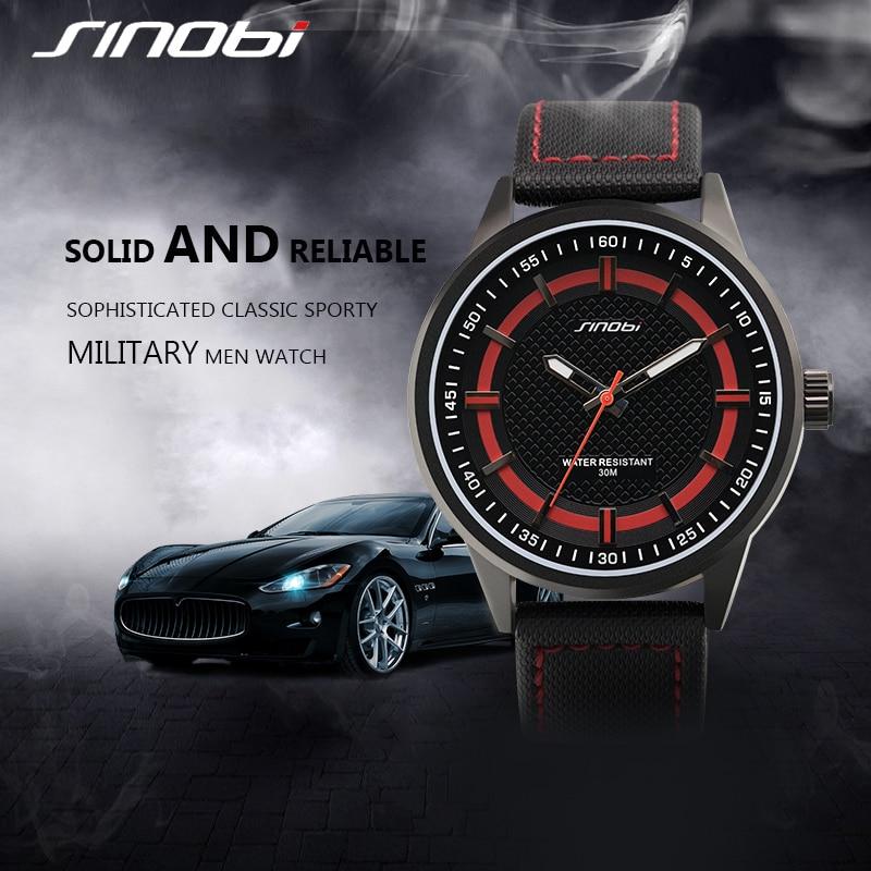 SINOBI Mens Watches Top Brand Luxury Black Leather Strap Quartz Watch Relogio Masculino 2018 Male Sport Watches For Men #S9621G цена