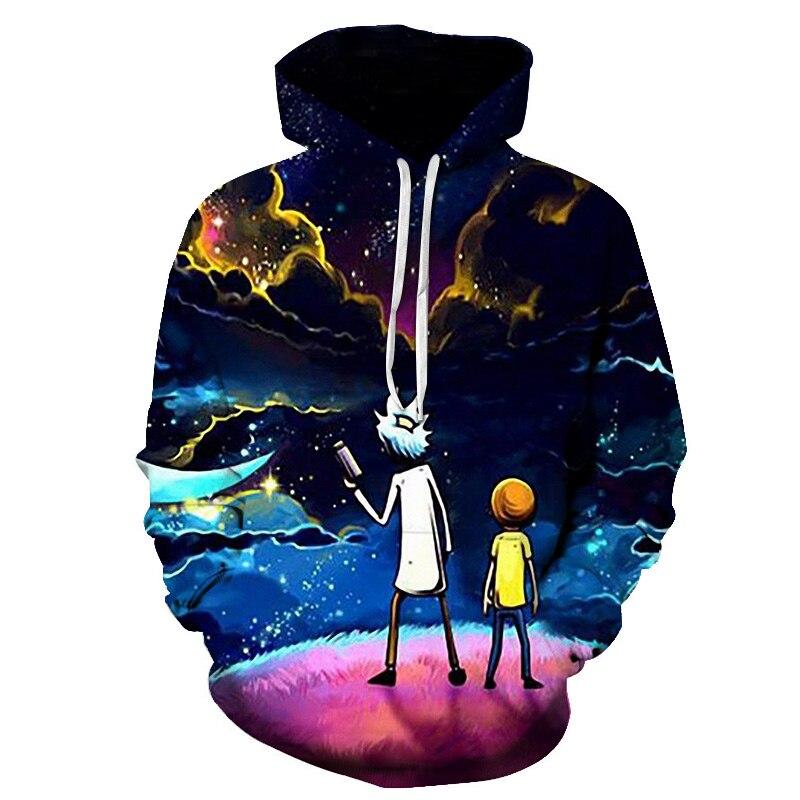 Brand New Fashion 3D Harajuku Star Sweatshirts Cartoon Hoody Casual Anime Print Pullover Funny Colorful Universe Design Classic