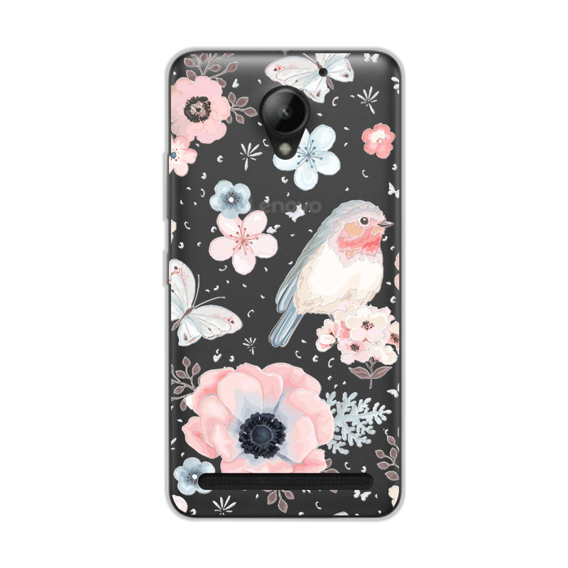 Cute Animal Case Fundas For Lenovo C2 K10a40 Soft TPU Beauty Flowers 3D Relief Lace Case Cover For Lenovo Vibe C2 5.0+Free Gift