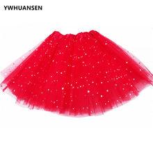 YWHUANSEN – jupe luxueuse à trois couches pour fille, robe de bal à paillettes, Tutus Pettiskrit, pour enfants