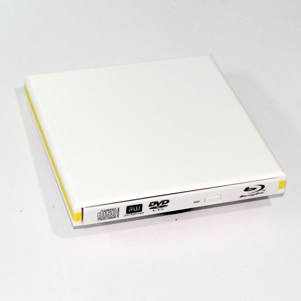 Blanc slim USB 3.0 Externe BD Blu Ray DVD +/-RW DVD +/-DL CD + /-RW Writer Brûleur Pour WINDOWS XP/7/8/10 Mac 3D Jouer