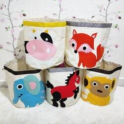 New Cartoon Animal Embroidery storage bucket children toy Basket folding washing sundries  organizer  kid clothing storage bins