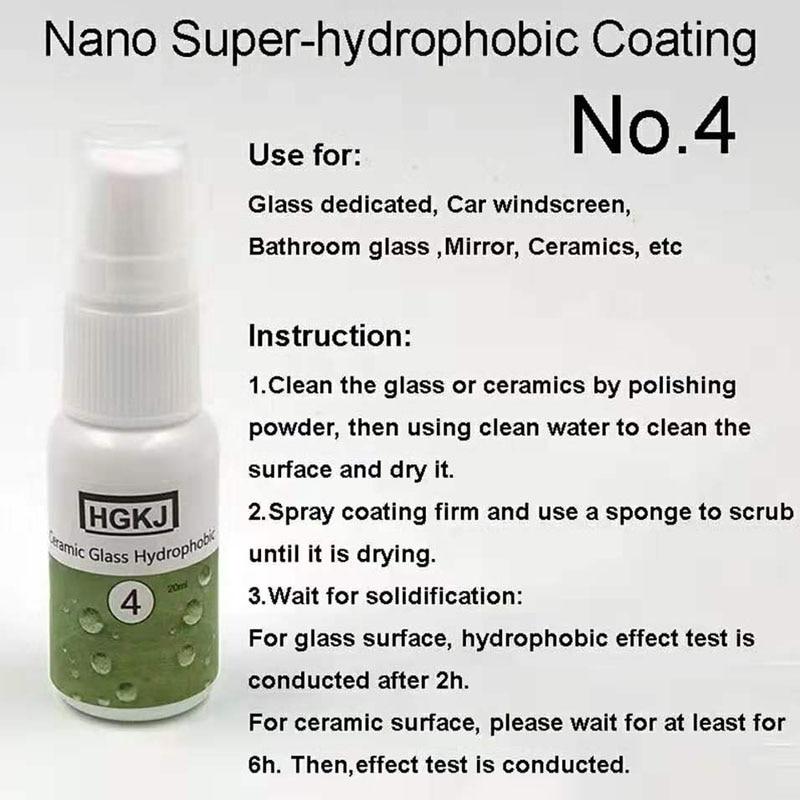 20 50ml HGKJ 4 Windshield Rainproof Agent Ceramic Glass Nano-Hydrophobic Coating Rainproof Agent