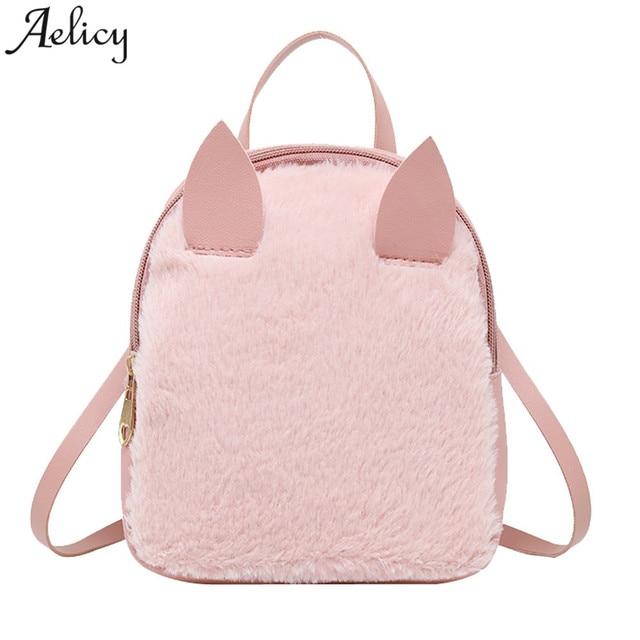 3ec5b6092da Aelicy 2018 Women Mini Backpack Female Small Leather Black Bag Stylish Back Pack  Backpacks for Teenagers
