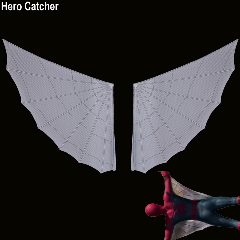 Hero Catcher High Quality New Homecoming Spiderman Cosplay Costume Wings Tom Spiderman Wings 2017 Spiderman Cosplay Wings