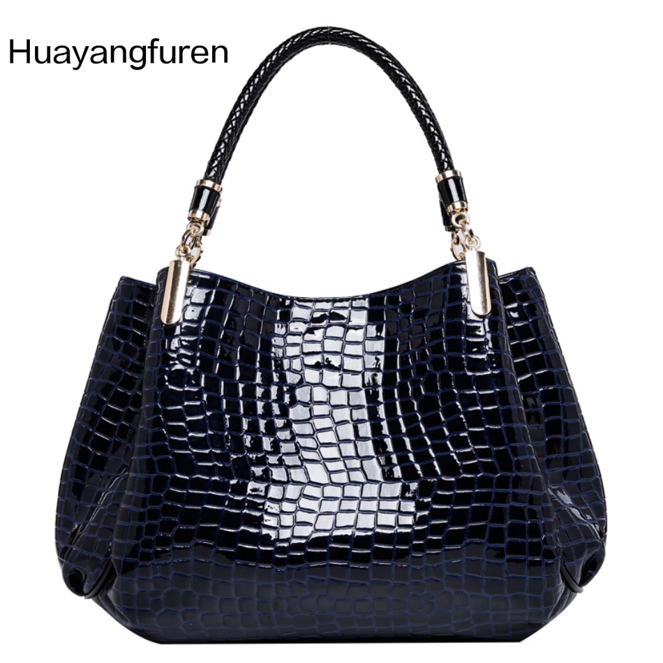 The lowest price New 2017 Fashion  Brand Bag Leather Women Handbag Shoulder Bags Crocodile Women Messenger Bags Bolsas women floral leather shoulder bag new 2017 girls clutch shoulder bags women satchel handbag women bolsa messenger bag
