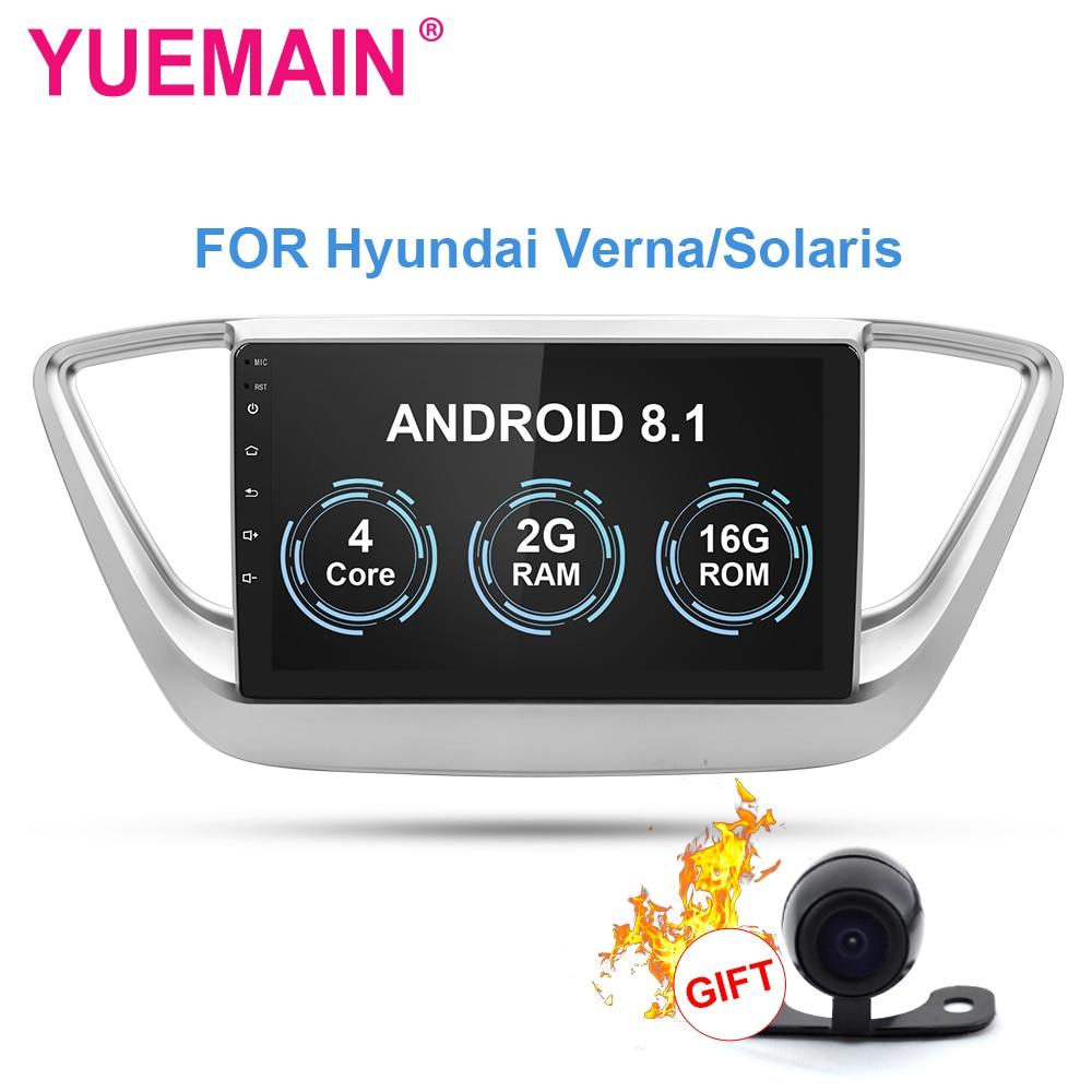 YUEMAIN Car radio Multimedia player For Hyundai Verna Solaris 2017-2018 2Din Android 8.1 Autoradio GPS Navigation Tape RecorderYUEMAIN Car radio Multimedia player For Hyundai Verna Solaris 2017-2018 2Din Android 8.1 Autoradio GPS Navigation Tape Recorder